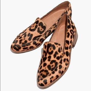 Madewell frances calf hair leopard loafer 9